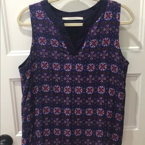 Multi colored sleeveless blouse